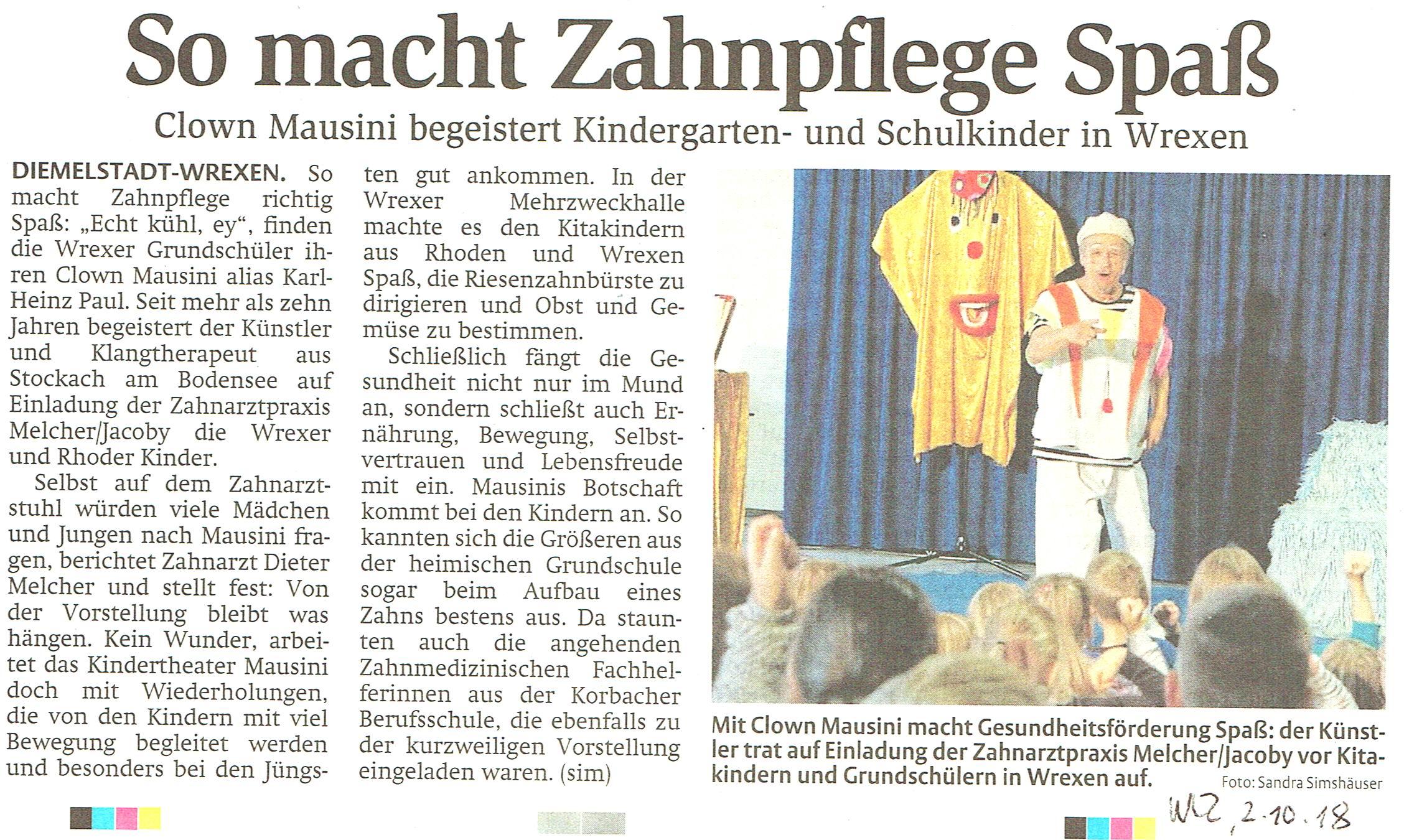 18 10 02 WLZ Mausini Artikel Zeitung hell